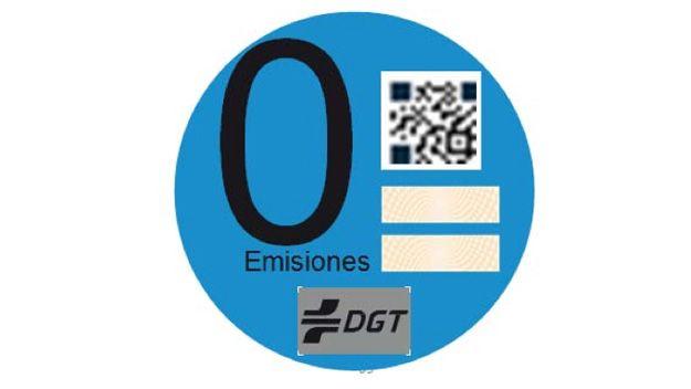 """Pegatina vehículo """"0 emisiones"""""""